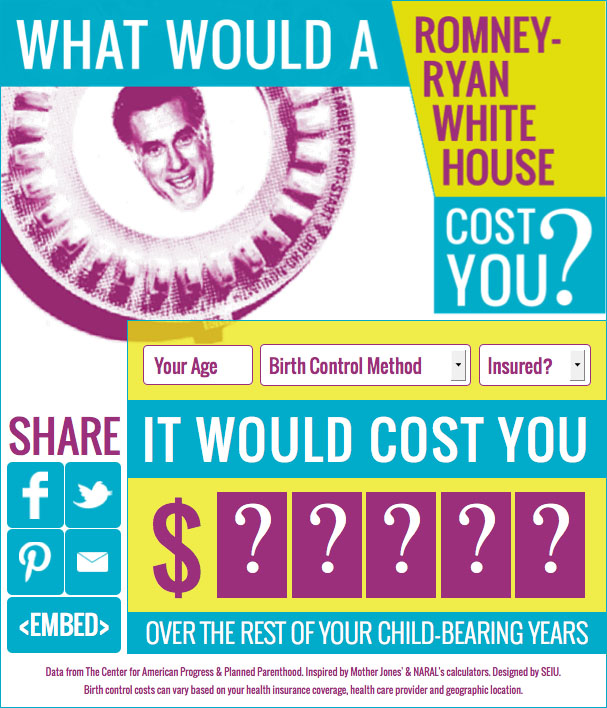 SEIU Birth Control Calculator Allows you to calculate how much you will spend on birth control over the rest of your child-bearing years